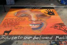 Nelson Mendela / 9ftx9fx Naples, FL chalk art