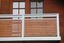 balconi in ferro e legno
