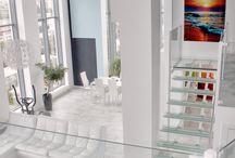 """Пентхаус. г. Екатеринбург / """"Оcean City"""" так я назвала этот проект. Цветовые переходы от белого к глубокому синему навеивают ощущение прохлады, бездонности и неиссякаемого объема."""