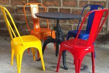 Industriële stoelen / Diversen stoelen Vintage Style