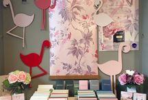 Little Greene Pink Window Displays / This month, we have seen some incredible window displays from our stockists incorporating the new 'Pink' range.