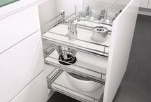 Vauth-Sagel Under Bench Storage / Quality German design solutions for under bench storage in your kitchen cabinets, from Vauth-Sagel. Pull out baskets, base cabinet units and more with options to suit under bench cabinets from 150mm to 600mm wide, plus specialty units like baking tray and pull out tea towel rails.