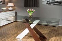 White Gloss and Walnut Table Furniture Range