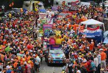 ISUZU al Tour de France 2015 / I coloratissimi #ISUZU D-Max che hanno accompagnato le tappe del Tour de France nell'edizione 2015
