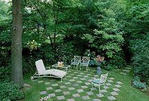 Hageøyar / lure idear når planlegg å løyse opp vår trekanta tomt og flate hage