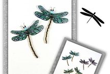 MAGNETS LIBELLULES / libellules aimantées pour décoration d 'intérieur