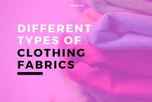 different clothing fabrics