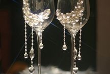 Wine Glass with decor