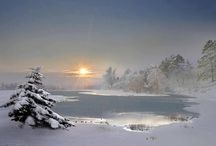 Winter Landscape and Cities