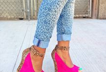 pink & animal print heels