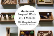 Montessori activity 14 mo