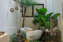 Veranda, arredo verde d'interni