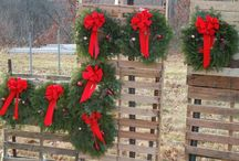 Cornell Wreaths / Displays for selling wreaths