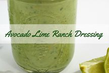 Dressing & Sauce Recipes / Sauce noun \ˈsȯs :  a condiment or relish for food; especially a fluid dressing or topping