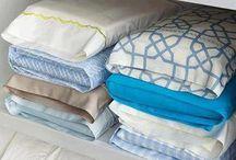 organização de lençóis