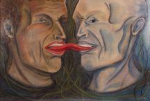 Acrylic / Soft Pastel / Mijn schilderijen en Soft Pastels