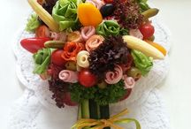 bukiet z warzyw i wedlin