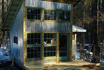 galvanised house