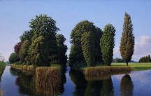 Hans Parleviet / Heldere realistisch landschappen ontsproten uit de fantasie van deze klassieke fijnschilder.  Buitengewoon fascinerende schilderijen van gedetailleerde kleurrijke landschappen die lijken te bestaan, echter minitieus zijn samengesteld door de schilder.