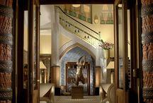 Interiors & exteriors / Unique Art Deco, Art Nouveau & Cubism interiors and exteriors of the legendary Art Deco Imperial Hotel in Prague.