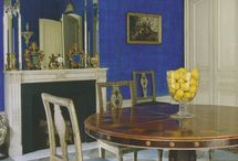 59 Dining Room Table with Painted Chairs