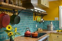 Colorful kitchens!!