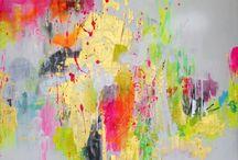 Neon schilderij / Kunst, foto, kleur, vorm