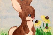Acrylic paintings spring / Everything spring