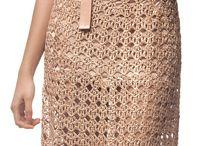 Virka klänningar och kjolar / Crochet virka
