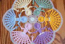 вязание крючок (салфетка)