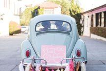 En voiture / Just married