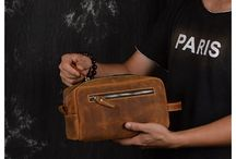 men's leather pouch