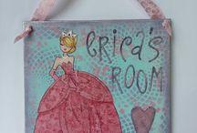 Art Girls / Mixed Media work subject-Girls