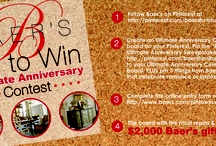 """PinToWin / *Contest has ended* Win a $2000 Baer's Gift Card Ultimate Anniversary Contest  1. Follow Baer's on Pinterest 2. Create an Ultimate Anniversary Celebration board, Pin the """"Pin to Win"""" Ultimate Anniversary image from http://pinterest.com/baersfurniture/pintowin/ to your board, pin 3 things from Baer's website that celebrate romance or inspire celebration plus images of your idea of the ultimate anniversary celebration 3. Complete the online entry form on Baer's site http://www.baers.com/pintowin / by Baer's Furniture"""