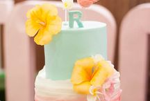 Flamingo party cake.