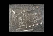 Papper,Sax, Sten templates / Custom made Perspex templates. Made especially for you to cut curves for quilting.