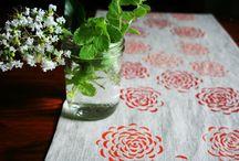 Hand print fabrics