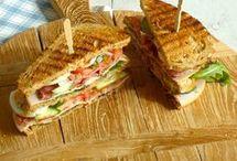 Tosti, belegde broodjes, panini, wraps ed