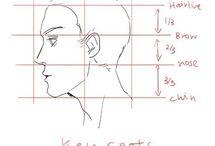 2. faceta rysunek - male head