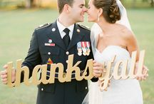 Military Weddings / we celebrate the men and women who risk their lives to protect our country and their partners who support them throughout it all