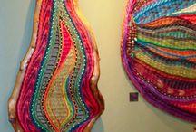 Weaving wool wall hangings