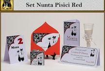 Set nunta Pisici Red