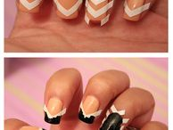 Nail art and makeup