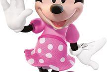 Minnie mouse etc..