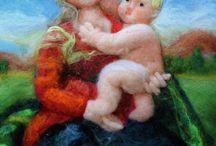 Dipingere con la lana - Wool Painting