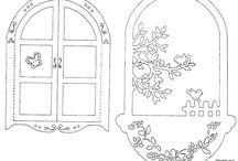 шаблон (цветы и растения)