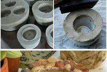 beton ozdobny, glina, itp