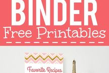 Recipe/meal binder ideas and printables