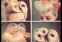 Pin up hair style
