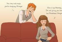 Ron, Hermione & Harry